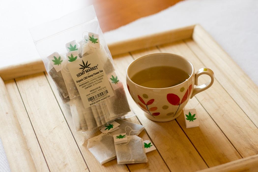 Organic Hemp CBD Flower Buds Tea In Tea Bags – 20 bags (3-4% CBD)