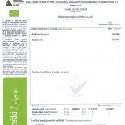 organic hemp cbd certificate